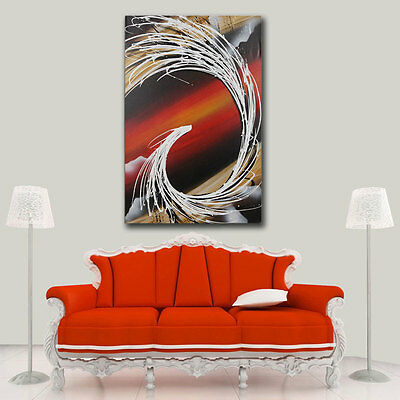 Abstract Phoenix Modern Canvas Oil Painting On Wall Art Decor Handpainted Framed