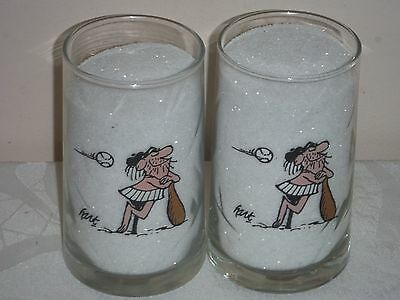 Vintage Arbys B.C. Keage Collector Glasses two baseball glasses