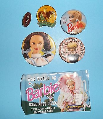 Lot Of Barbie Memorabilia*buttons*pins*collector Cards*