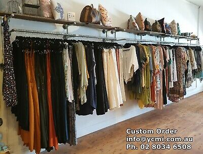 Industrial Pipe Commercial Shop Business Shelving Clothing Rack Brackets BS023D