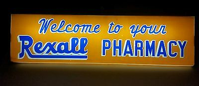 Rare Antique Rexall Drug Store Lighted Double Sided Advertising Sign 1940's