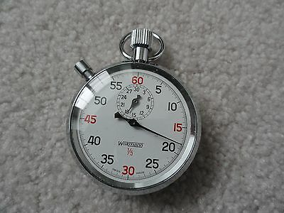 Swiss Made Wakmann 1/5 Vintage Stop Watch Stopwatch