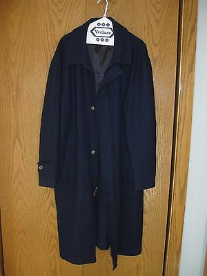 Vintage Men's  Navy Pendleton Wool Coat - Pre-Owned - Size 44 - Made in USA