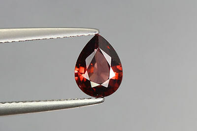 1.370 Cts FULL FIRE 100% NATURAL EARTH MINE RED ZIRCON UNHEATED GEMSTONE~!!!