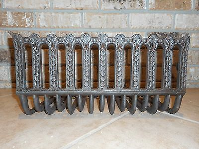 antique cast iron fireplace log grate