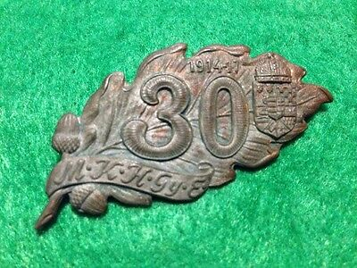 WWI German 1914-17 M K H Gy R Oak Leaf 30 Regimental Pin