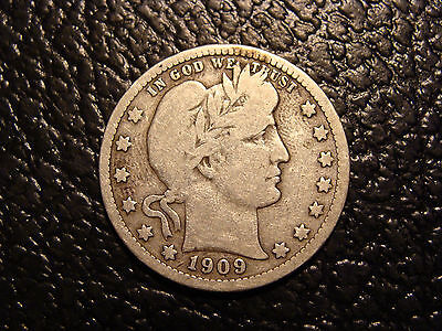 1909 Barber Quarter VG+ WE COMBINE ON SHIPPING