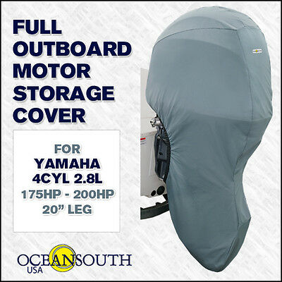 "Yamaha outboard storage full cover 4cyl 2.8L 175HP-200HP 20"" leg"