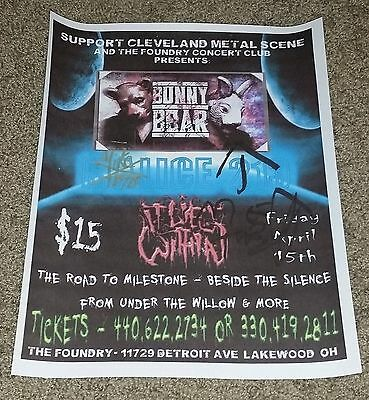 """The Bunny The Bear Signed Poster 8 1/2"""" x 11"""" Spring Bash And Thrash"""
