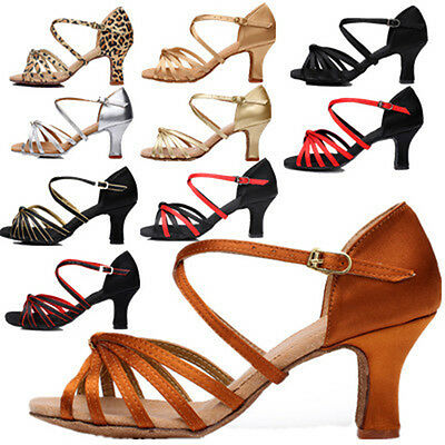 Women's Tango Latin Modern Dance Shoes Salsa Exotic Dance Ballroom heeled Shoes