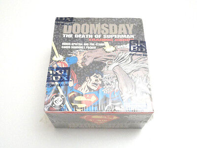 Vtg 1992 Skybox Doomsday The Death of Superman Factory Sealed Trading Cards Box