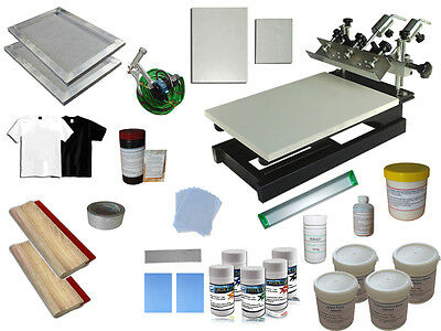 Single Color Micro Registration Screen Printing Press Full Printing Materials