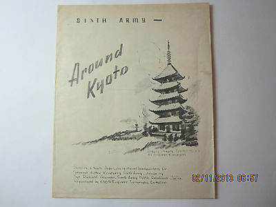 "WWII Sketches General Krueger's Sixth Army Japan Occupation-""Around Kyoto"""