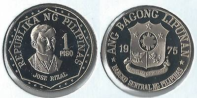 1975 Philippines 1 piso proof coin