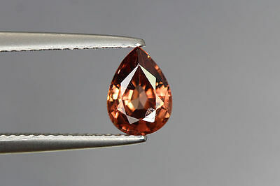 1.520 Cts FULL FIRE 100% NATURAL EARTH MINE RED ZIRCON UNHEATED GEMSTONE~!!!