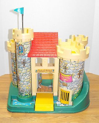 Vintage Fisher Price Little People Play Family Castle #993 ~ Building Only