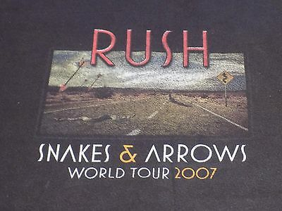 "2007 Official Rush ""snakes & Arrows World Tour"" Concert Shirt Size Adult 2Xl"