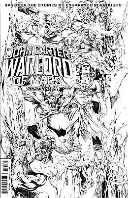 JOHN CARTER WARLORD OF MARS #13 Black & White Variant Cover