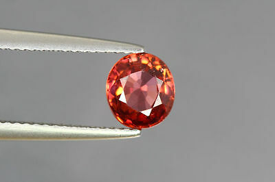 1.660 Cts FULL FIRE 100% NATURAL EARTH MINE RED ZIRCON UNHEATED GEMSTONE~!!!