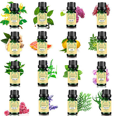 62 Scents 100% Natural PURE ESSENTIAL OILS 10ml Aromatherapy Free Shipping