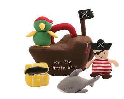 New BABY GUND MY LITTLE PIRATE SHIP 5 PIECE PLAYSET Plush Free/Fast Shipping
