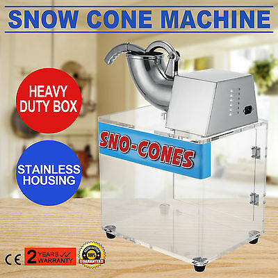 Snow Cone Machine Ice Blast Maker Shaved Commercial Crusher Concession ACTIVE