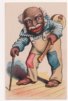 Vintage Cards 4 Caricture Drawings of African Americans Black Americana