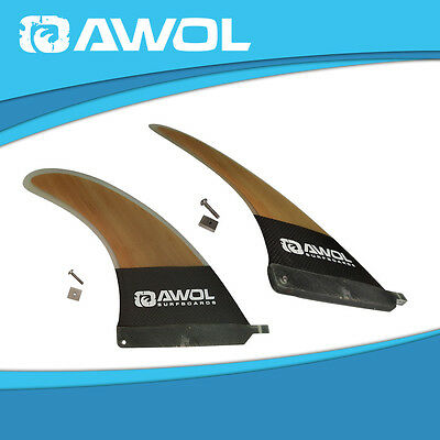 "AWOL 9"" INCH Center Fin Longboard / Surfboard (Carbon fibre, Honeycomb) #17"