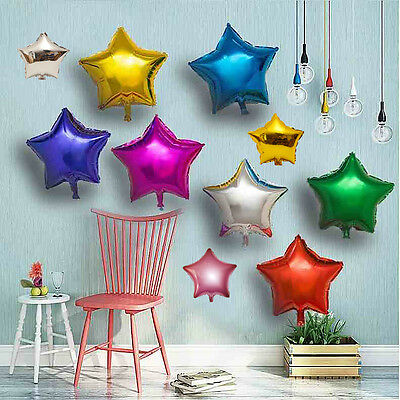 5 Pieces 10'' 18'' Aluminum Foil Star Balloon for Wedding Kid Birthday Party Hot
