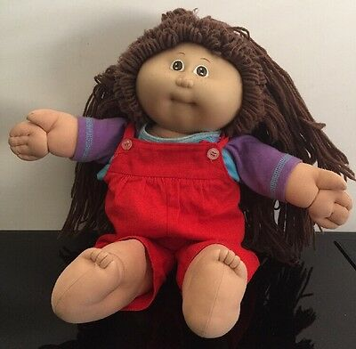 1985 Cabbage Patch Doll Vintage Brown Hair And Eyes Fast Free Post