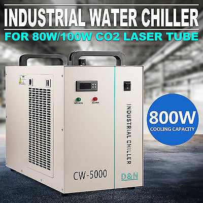 Thermolysis Industrial Water Chiller For 80/100w CO2 Glass Tube CW-5000DG Top
