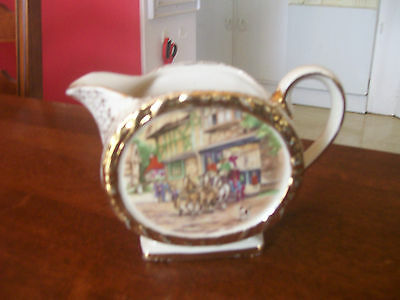 Sadler ...perfect  Condition  Coach  And  Horses Milk  Jug  Very  Popular  Patt