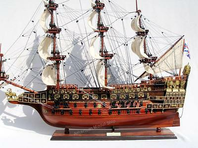 """Sovereign of the Seas 1637 Tall Ship Wooden Model 28""""- Handcrafted Wooden Model"""