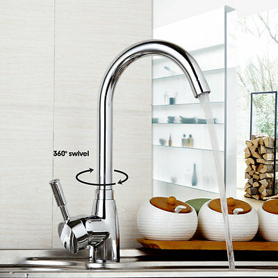 EUB Kitchen swivel water faucet deck mounted basin sink mixer taps copper faucet