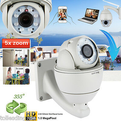 Outdoor HD 1080P 30X ZOOM 2MP IP Dome Camera Waterproof CCTV PTZ Security 120mIR