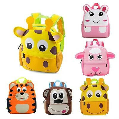 Toddler Kid Children Boy Girl 3D Cartoon Animal Backpack School Bag Rucksack