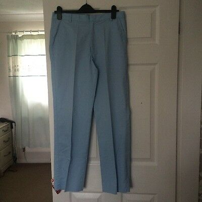 Men's Golf Trousers, Baby Blue Size 34
