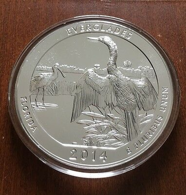 2014 5 oz Silver ATB Everglades National Park, Fl America The Beautiful Coin
