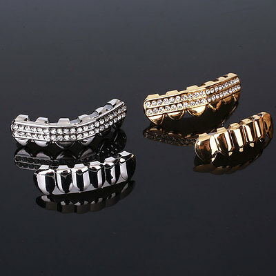 Hip Hop Rhinestones Teeth Bottom Lower Grill Grillz Christmas Party Gift