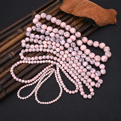Professional Pink Turquoise Gemstone Jewellery Making Spacer Beads Tools Kits