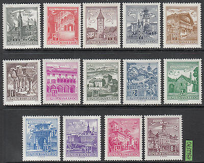 XG-H119 AUSTRIA - Architecture, 1962 1970, Buildings, Tourism MNH Set