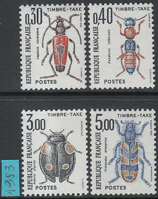XG-H173 INSECTS - France, 1983 Postage Due, 4 Values MNH Set