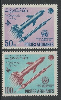 XG-H265 SPACE - Afghanistan, 1962 World Meteorological Day, 2 Values MNH Set