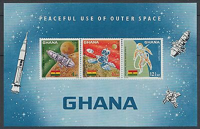 XG-H284 SPACE - Ghana, 1967 Exploration, Peaceful Use Of Outer Space MNH Sheet