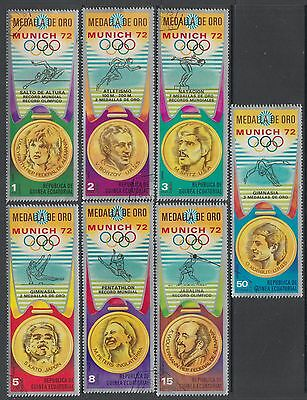XG-H300 SPACE - Eq. Guinea, 1972 Germany Munich '72, Gold Medalists Used CTO Set