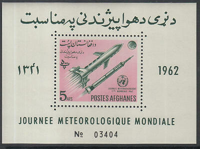 XG-H314 SPACE - Afghanistan, 1962 World Meteorological Day MNH Sheet