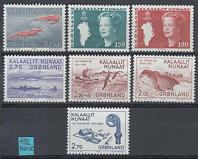 XG-H533 GREENLAND - Year Set, 1982 Complete As Per Scan, Birds, Ships MNH
