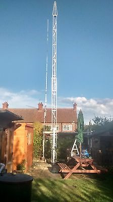 New 2 And 3 Section Heavy Duty Lattice Steel Ground Mount Antenna Masts.