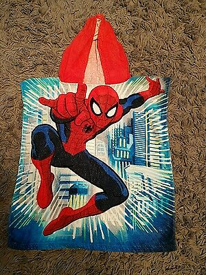 Spiderman towel hoody for boys. One size