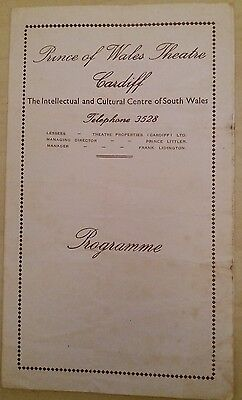 Vintage Prince of Wales Theatre Programme Cardiff 1951 Donald Wolfit, Leo McKern
